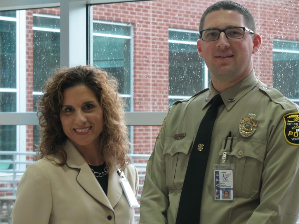 SRO Matt Chetiatis and SGHS Principal Rosemary Cugliari