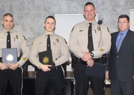 Sgt. Vaughn, Officer Miller, Officer Morley, and Chief Bentzel